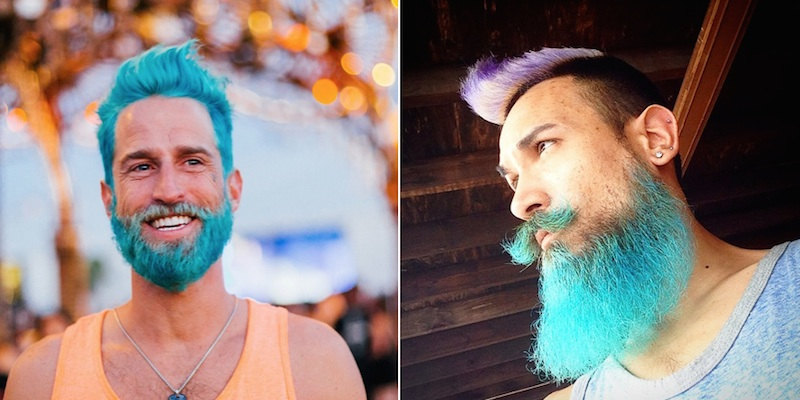 Mermani alebo trendy vo farbení vlasov pre mužov
