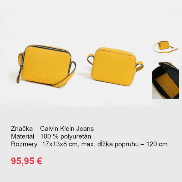 fad80d971a Žltá malá crossbody kabelka Calvin Klein Jeans