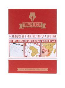 Červený cestovný denník so stieracími mapami Luckies Travelogue