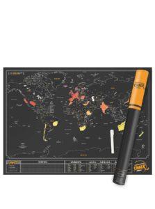 Veľká nástenná stieracia mapa Luckies Chalk Edition