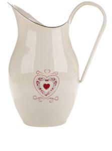 Béžový džbán s motívom srdca Dakls