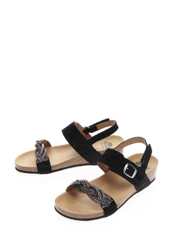 2d087248cd Čierne dámske semišové zdravotné sandále Scholl Evelyne