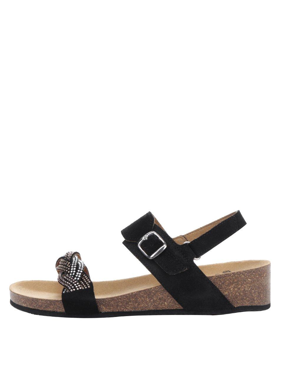 cae79f75c134 Čierne dámske semišové zdravotné sandále Scholl Evelyne