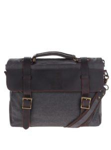 Tmavosivá unisex kožená taška Urban Bag