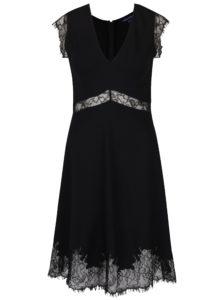Čierne šaty bez rukávov French Connection Lora Beau