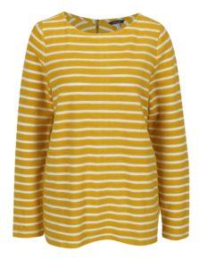 Žltý pruhovaný dámsky sveter so zipsom Tom Joule Caroline