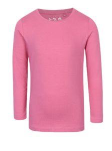 Ružové dievčenské tričko s dlhým rukávom 5.10.15.