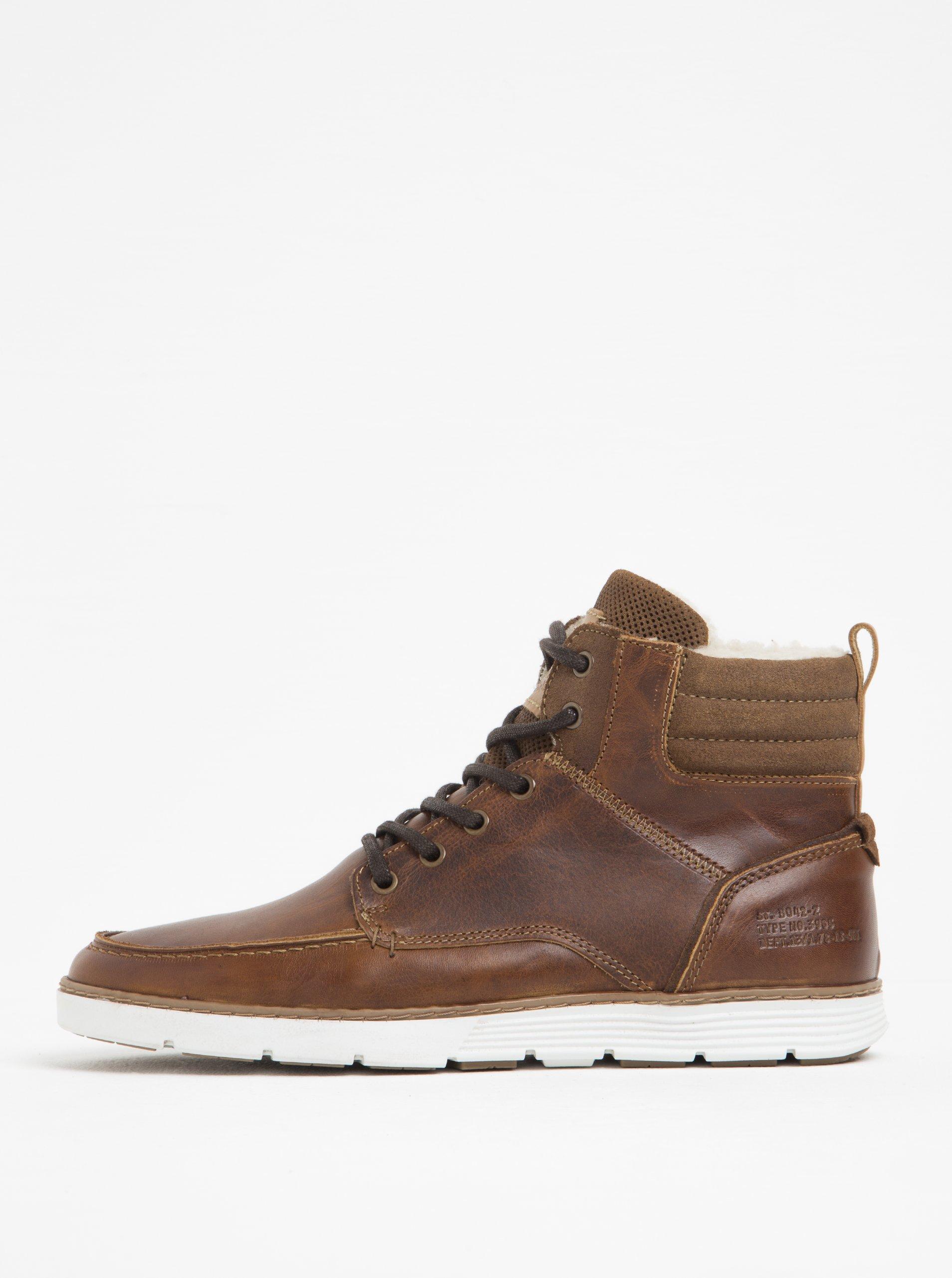 a190f5e500b6e Hnedé pánske kožené členkové topánky Bullboxer | Moda.sk
