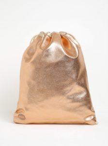 Lesklý dámsky koženkový vak v ružovozlatej farbe Mi-Pac Kit Bag Metallic