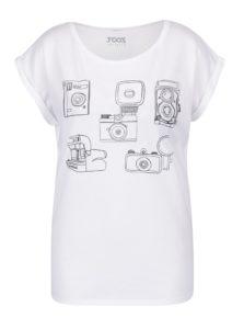 Biele dámske tričko s potlačou ZOOT Original Foťáky