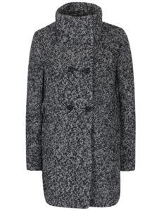Sivý melírovaný krátky kabát s prímesou vlny Haily's Sina