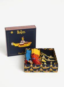 Súprava troch párov vzorovaných unisex ponožiek Happy Socks The Beatles
