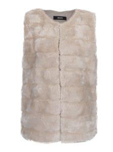 Krémová prešívaná vesta z umelej kožušiny ZOOT