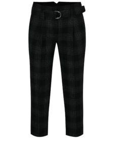 Čierne vzorované nohavice s opaskom Dorothy Perkins