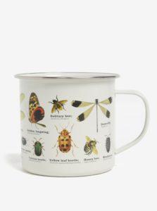 Krémový plechový hrnček s potlačou hmyzu Gift Republic