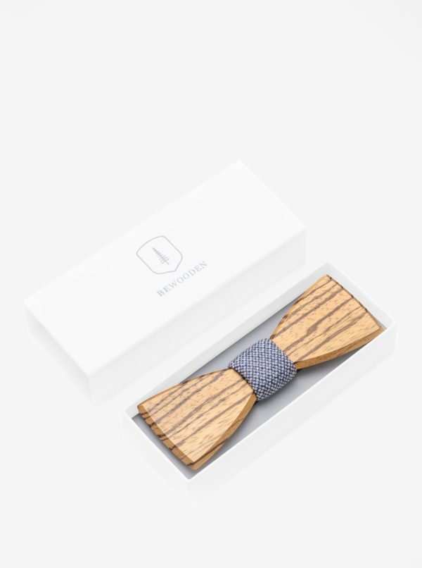 Hnedý pánsky drevený motýlik BeWooden Dolor