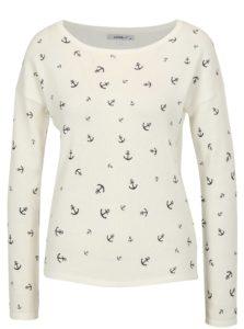 Biely sveter s potlačou kotiev Haily's Nellie
