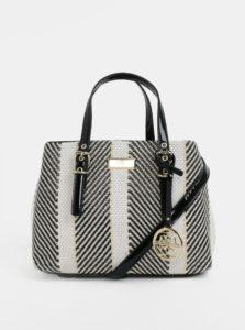 Čierno-krémová vzorovaná kabelka s detailmi v zlatej farbe Gionni Bess