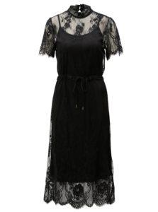 2a7f36cb4054 Čierne čipkované šaty Moss Copenhagen