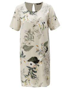 Béžové kvetované šaty ONLY Alma