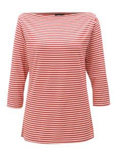 Bielo-červené pruhované tričko s 3/4 rukávom ZOOT
