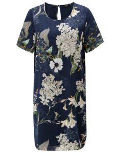 Tmavomodré kvetované šaty ONLY Alma