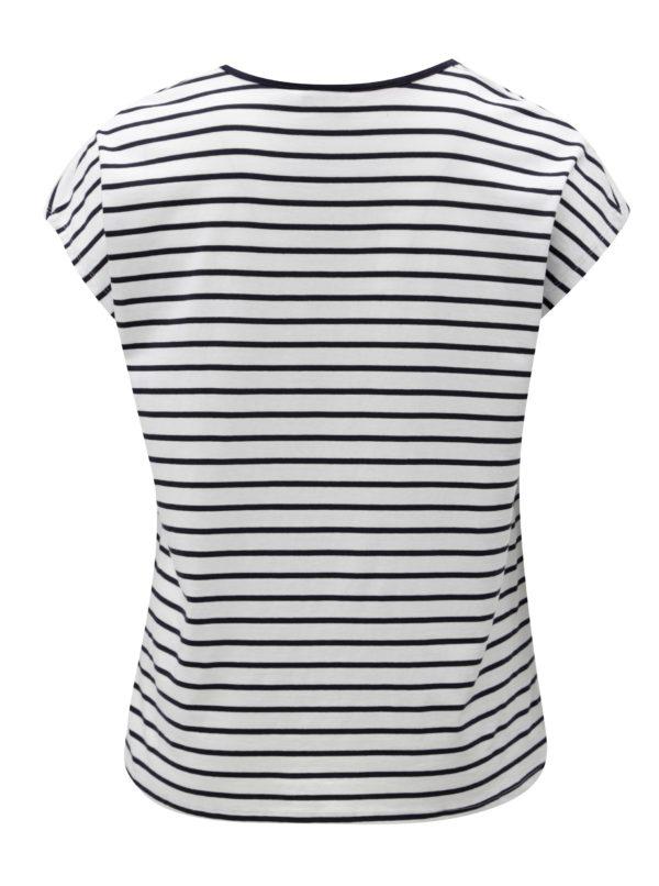 Modro-biele pruhované tričko Zizzi Mina