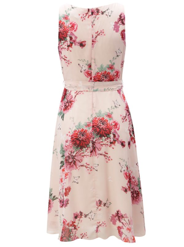 Svetloružové kvetované šaty Billie & Blossom