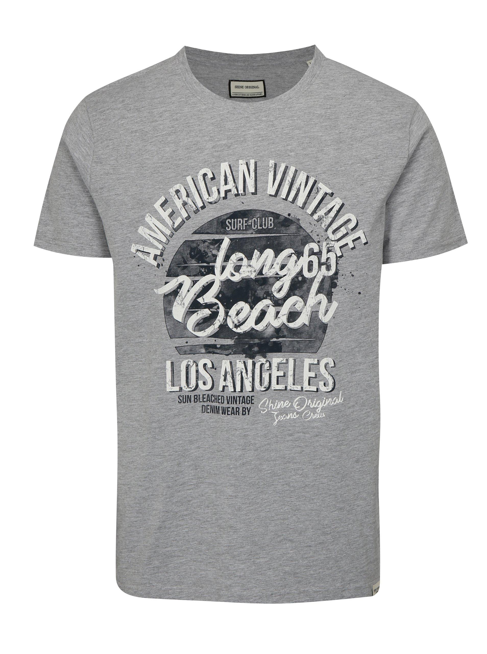 25ffe4a28b33 Sivé tričko s potlačou Shine Original