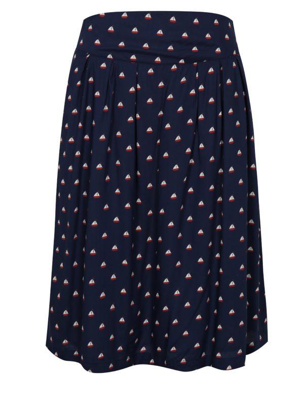 Tmavomodrá vzorovaná sukňa Fever London Instow