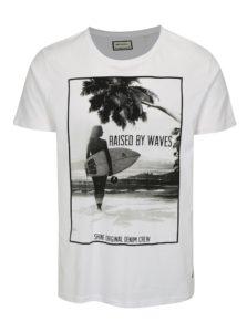 Biele tričko s letnou potlačou Shine Original