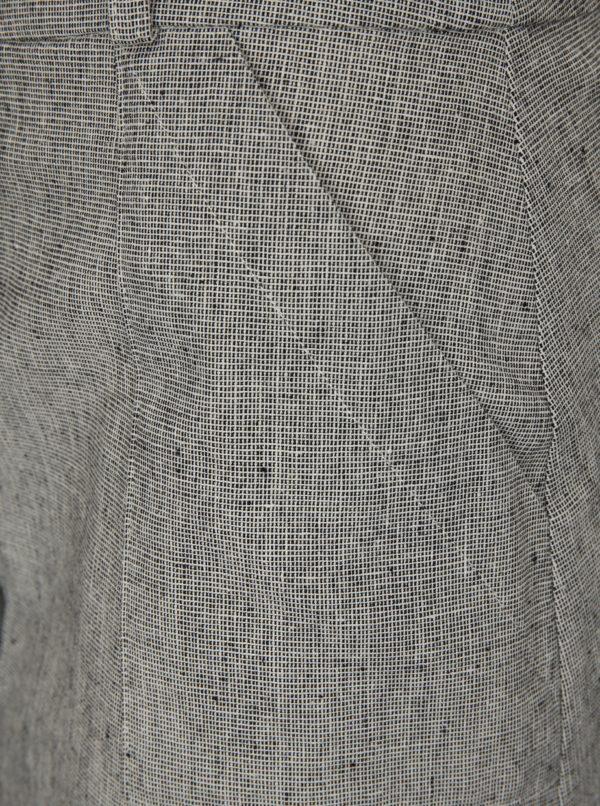 Sivá sukňa s prímesou ľanu Fever London Juno