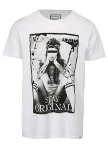 Biele tričko s potlačou Game Shine Original