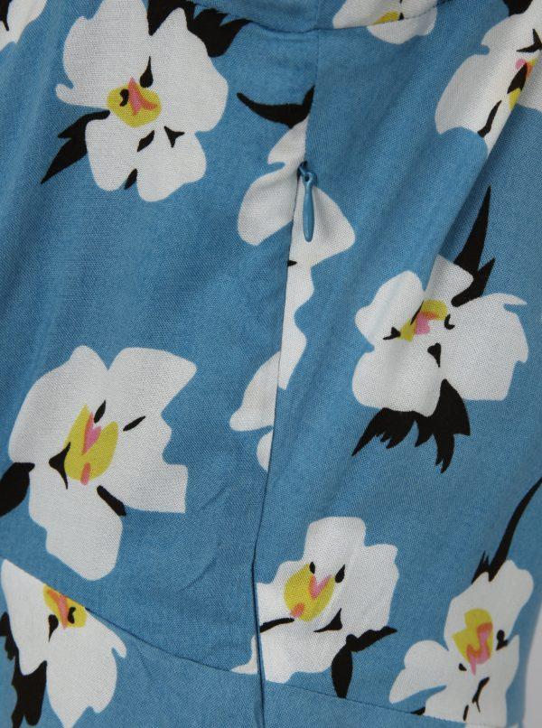 Svetlomodré kvetované šaty Fever London Emilie