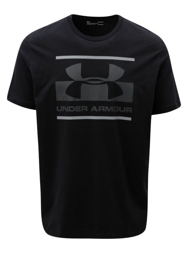 Čierne pánske funkčné tričko s potlačou Under Armour
