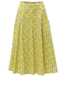 Krémovo-žltá vzorovaná sukňa ZOOT