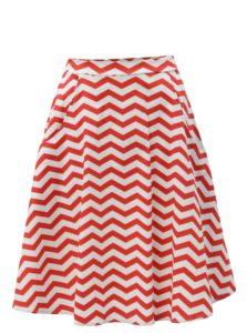 Bielo-červená vzorovaná sukňa ZOOT