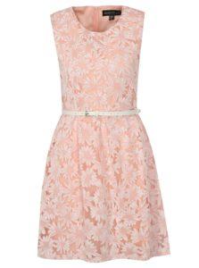 Bielo-ružové šaty s opaskom Mela London