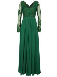 Zelené maxišaty s dlhým rukávom Miss Grey Darma
