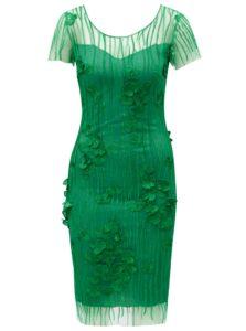 Zelené čipkované šaty Miss Grey Fathia