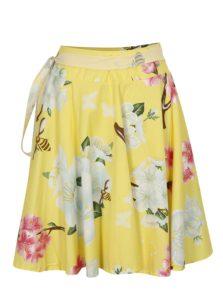 Žltá kvetovaná zavinovacia sukňa La femme Mimi