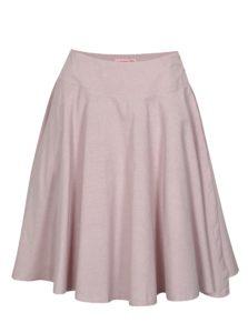 Svetloružová zavinovacia sukňa La femme MiMi