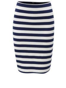 Bielo-modrá pruhovaná sukňa ZOOT