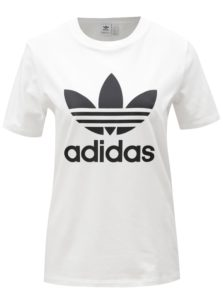 Biele dámske tričko s potlačou adidas Originals