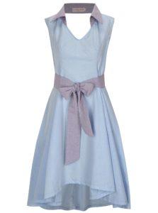 Svetlomodré šaty s golierikom La femme MiMi