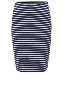 Bielo-modrá pruhovaná sukňa s jemným prúžkom ZOOT