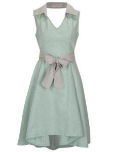 Svetlozelené šaty s golierikom La Femme MiMi