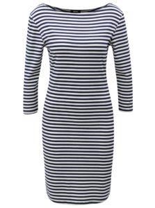 Bielo-modré pruhované šaty s 3/4 rukávom ZOOT