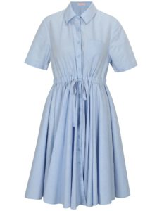 Svetlomodré košeľové šaty La femme MiMi