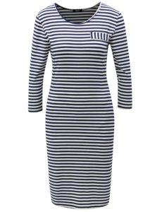 Modro-biele pruhované šaty s vreckami ZOOT